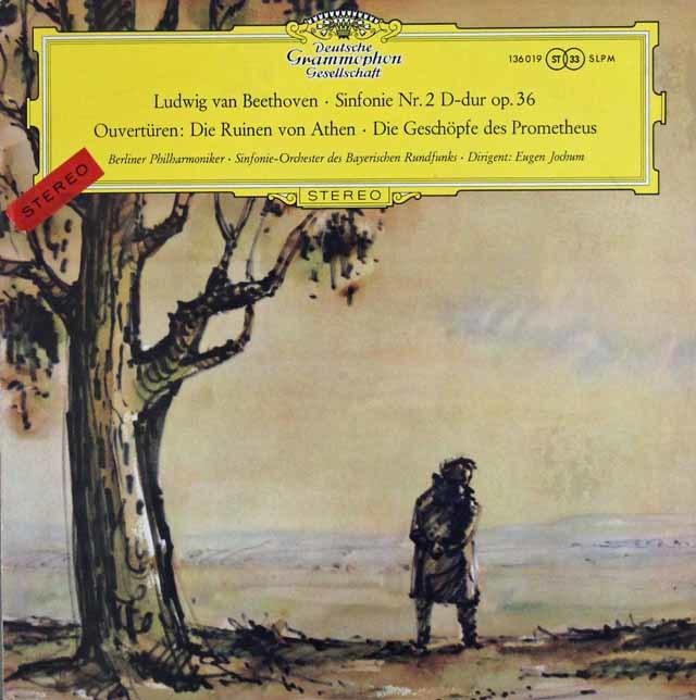 【独最初期盤/細字ステレオ】 ヨッフムのベートーヴェン/交響曲第2番ほか 独DGG 3202 LP レコード