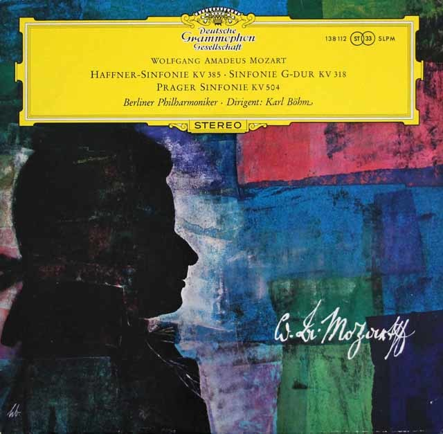 【独最初期盤】 ベームのモーツァルト/交響曲第35番「ハフナー」、32番、38番「プラハ」 独DGG 3202 LP レコード