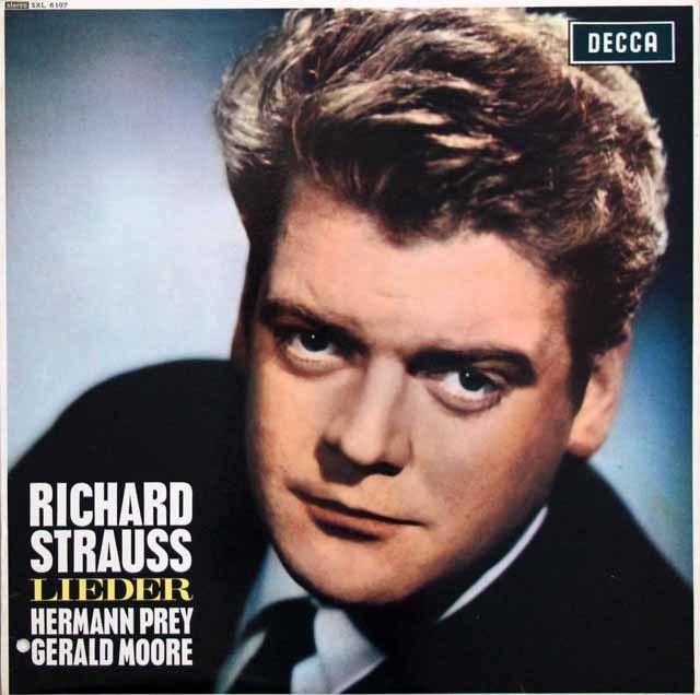 【オリジナル盤】 プライのR.シュトラウス/歌曲集 英DECCA 3202 LP レコード