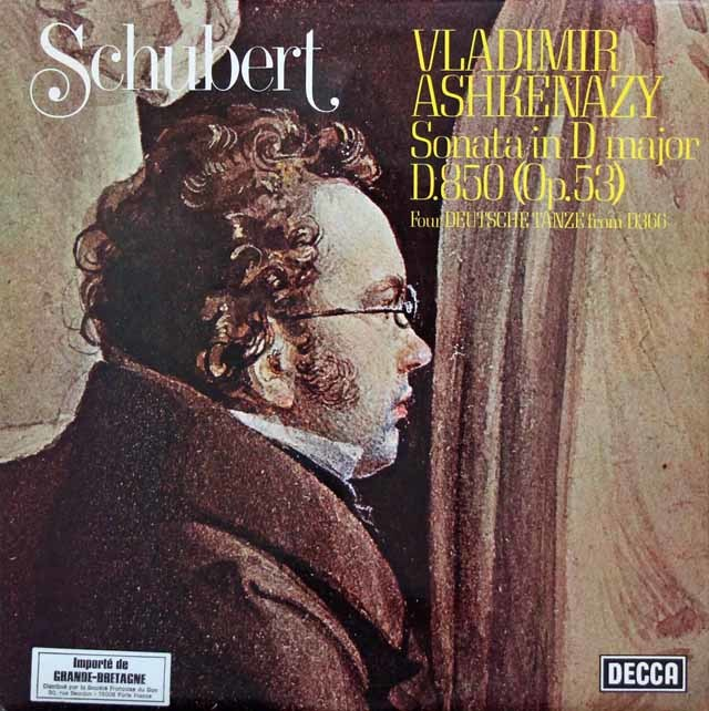 【オリジナル盤】 アシュケナージのシューベルト/ピアノソナタ第17番 英DECCA 3202 LP レコード