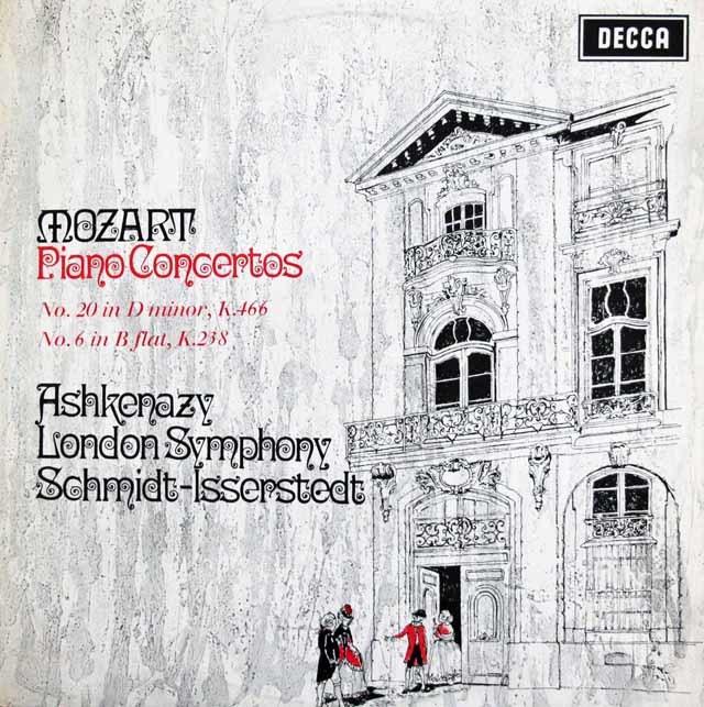 【オリジナル盤】 アシュケナージのモーツァルト/ピアノ協奏曲第20&6番 英DECCA 3202 LP レコード