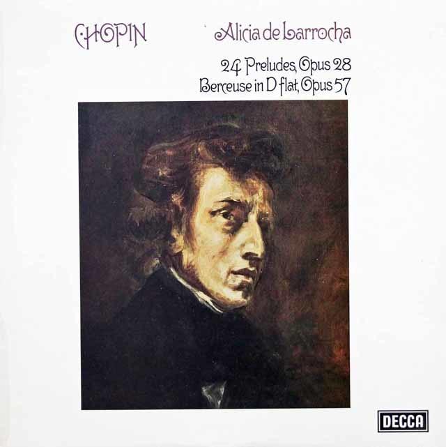 【オリジナル盤】 ラローチャのショパン/24の前奏曲 英DECCA  3202  LP レコード