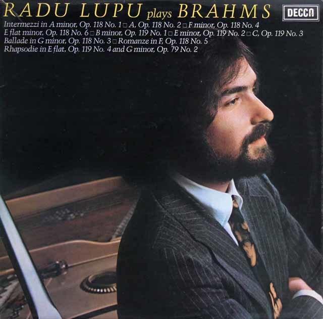 【オリジナル盤】 ルプーのブラームス/ピアノ作品集 英DECCA 3202 LP レコード