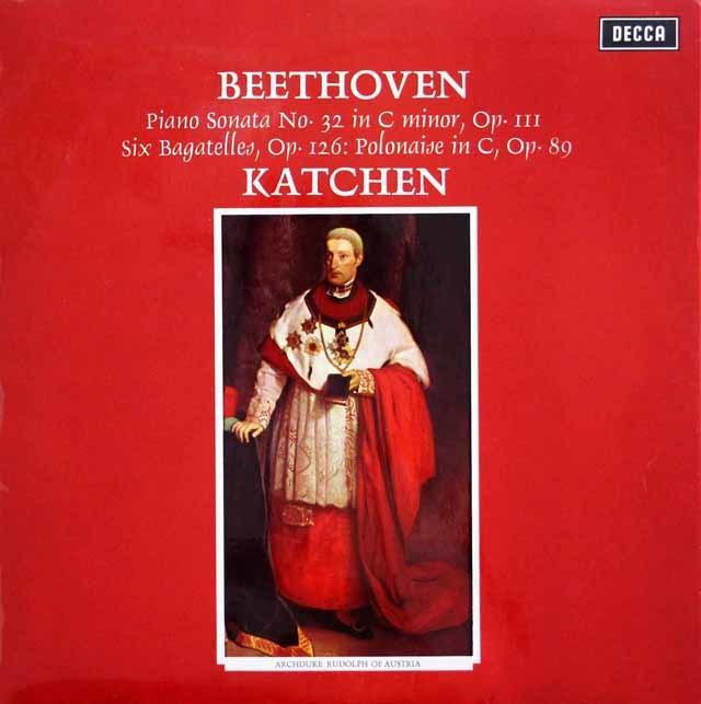 【オリジナル盤】 カッチェンのベートーヴェン/ピアノソナタ第32番ほか 英DECCA 3202 LP レコード