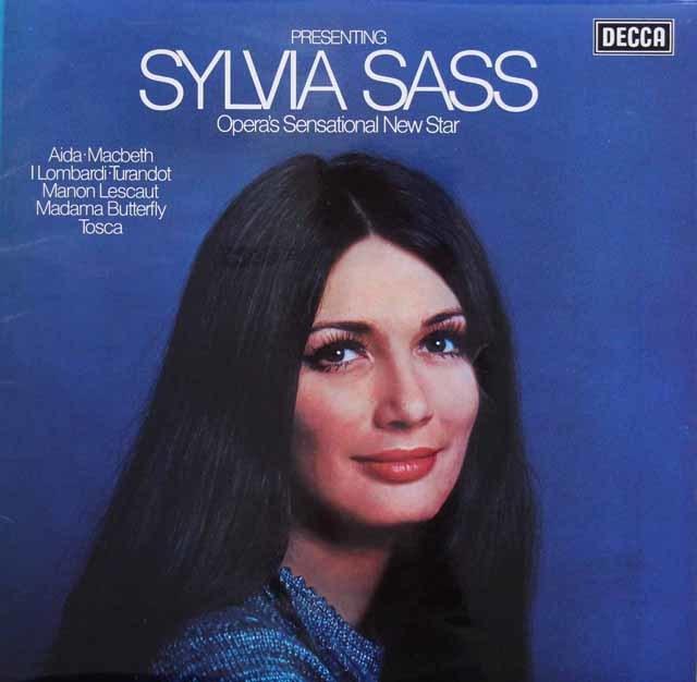 【オリジナル盤】 シャシュのプッチーニ&ヴェルディ/オペラアリア集 英DECCA 3202 LP レコード