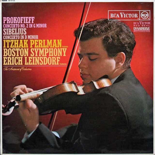 【オリジナル盤】 パールマン&ラインスドルフのプロコフィエフ/ヴァイオリン協奏曲ほか 英RCA 3202 LP レコード