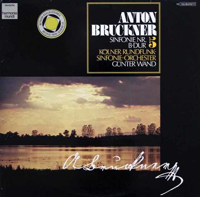 ヴァントのブルックナー/交響曲第5番  独HM 3202 LP レコード