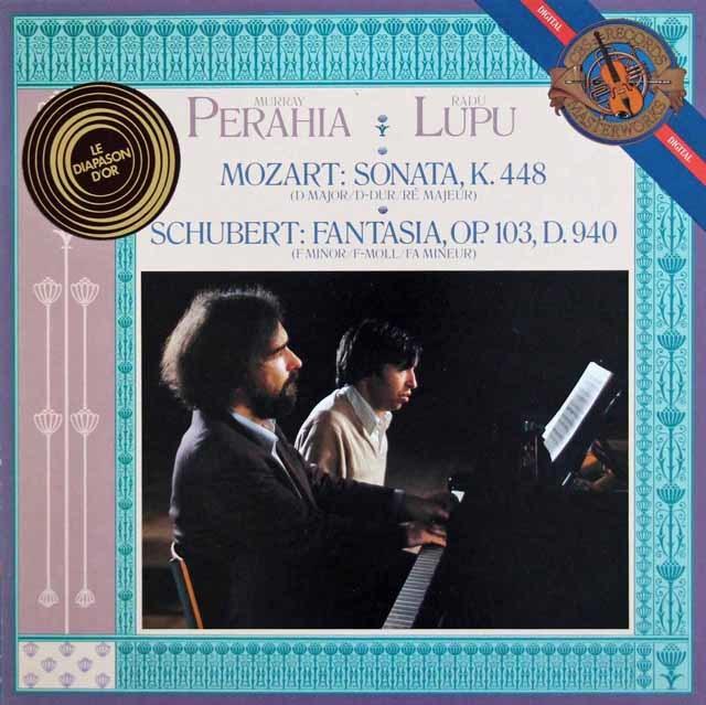 ペライア&ルプーのモーツァルト/2台のピアノのためのソナタ 蘭CBS 3202 LP レコード