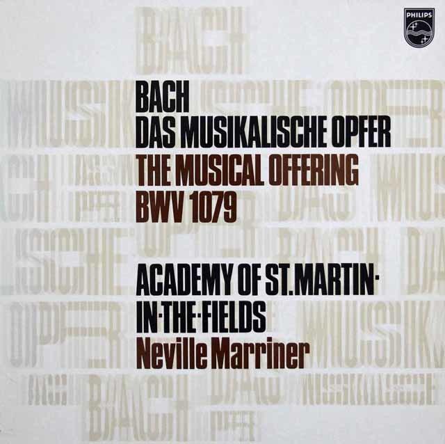 マリナー&アカデミー室内管のバッハ/音楽の捧げもの 蘭PHILIPS 3202 LP レコード