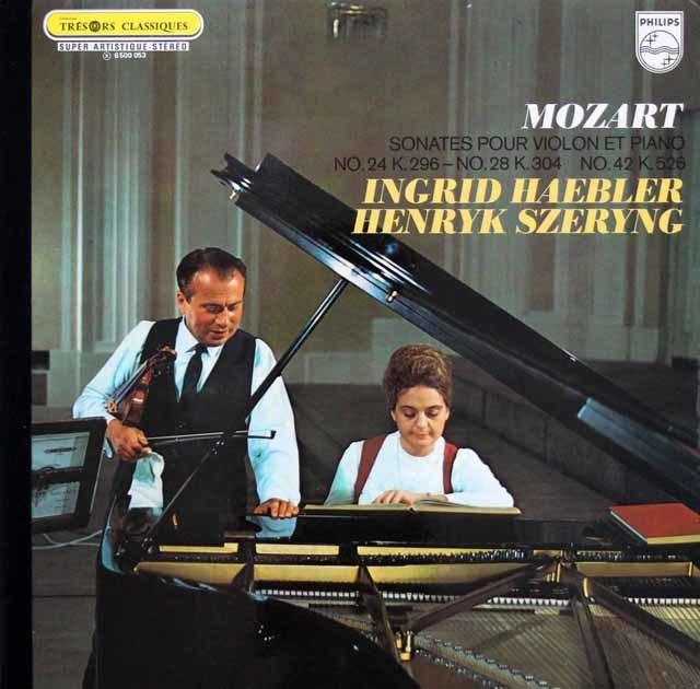 へブラー&シェリングのモーツァルト/ヴァイオリンソナタ第24、28、42番  蘭PHILIPS 3202 LP レコード