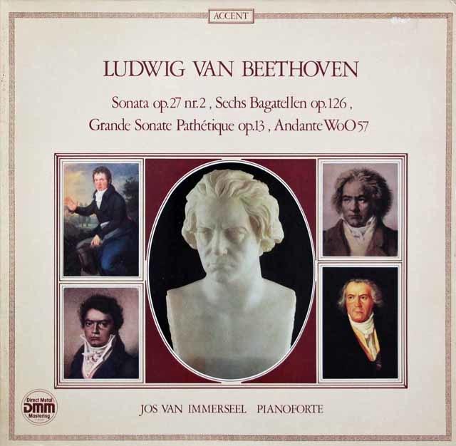 インマゼールのベートーヴェン/ピアノフォルテのためのソナタ集 独ACCENT 3202 LP レコード