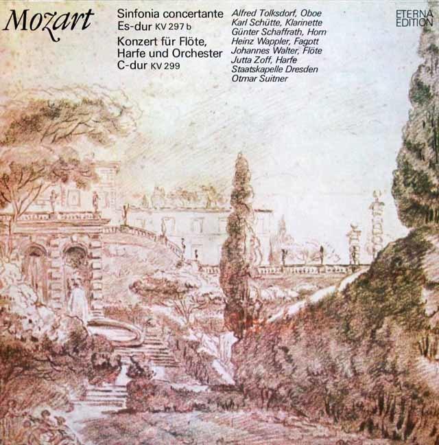 スウィトナーのモーツァルト/管楽器の為の協奏交響曲ほか 独ETERNA 3202 LP レコード