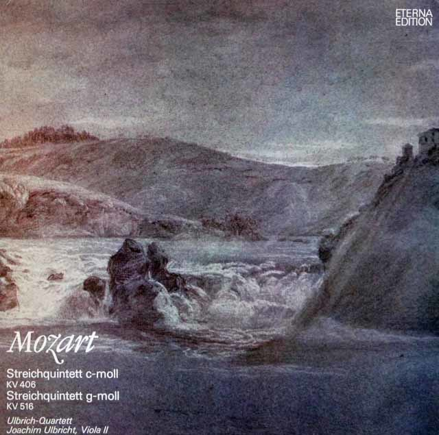 ウルブリヒ四重奏団のモーツァルト/弦楽五重奏曲第2&4番 独ETERNA 3202 LP レコード