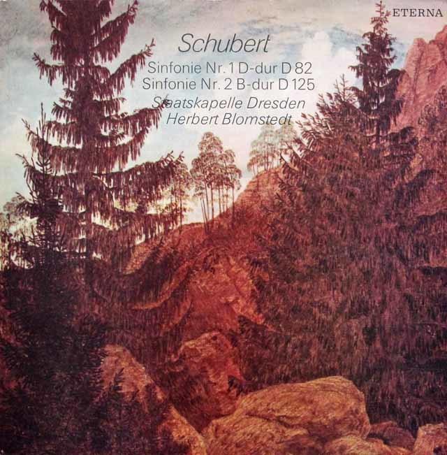 ブロムシュテットのシューベルト/交響曲第1&2番 独ETERNA 3202 LP レコード