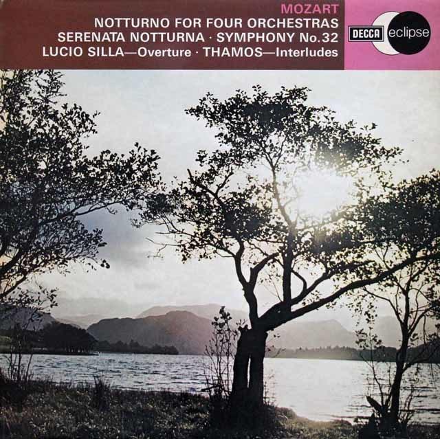 マークのモーツァルト/セレナーデ 第6番「セレナータ・ノットゥルナ」ほか 英DECCA 3202 LP レコード