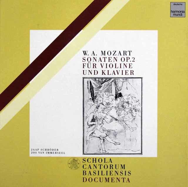シュレーダーのモーツァルト/ヴァイオリンソナタ集 独HM 3202 LP レコード