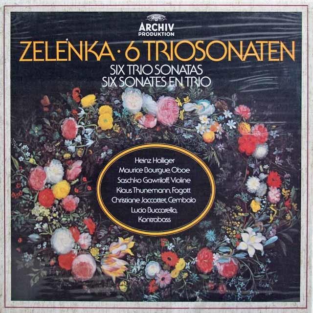 【未開封】 ホリガーらのゼレンカ/6つのトリオ・ソナタ集 独ARCHIV 3202 LP レコード
