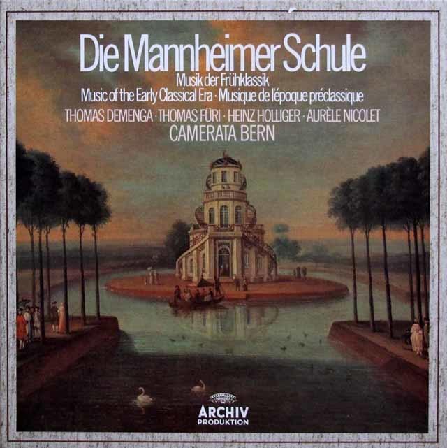 ホリガー、ニコレ&カメラータ・ベルンの「マンハイム楽派の協奏曲集」 独ARCHIV 3202 LP レコード