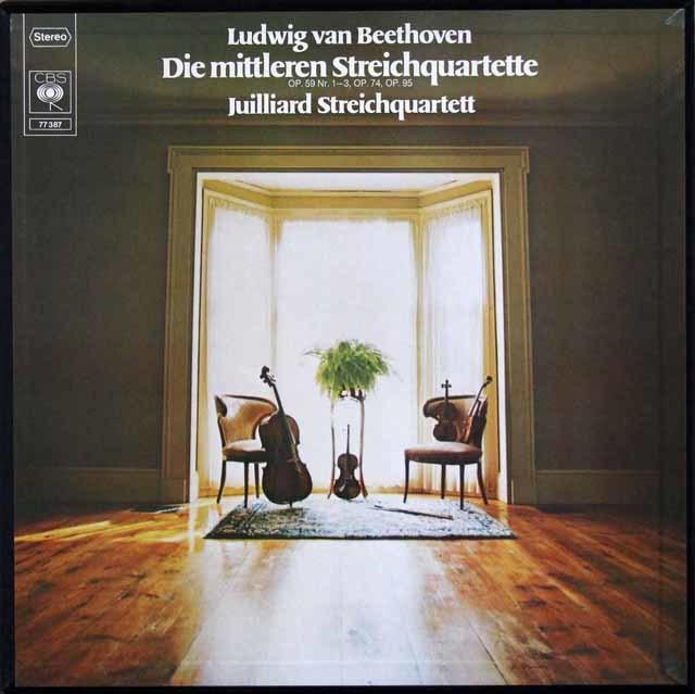 ジュリアード四重奏団のベートーヴェン/中期弦楽四重奏曲全集 独CBS 3202 LP レコード