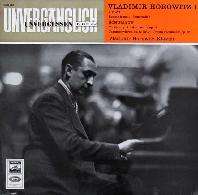 ホロヴィッツのリスト/ピアノソナタほか 独EMI 3203 LP レコード