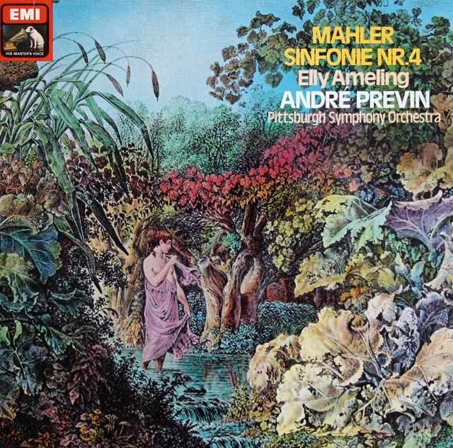 プレヴィンのマーラー/交響曲第4番 独EMI 3203 LP レコード