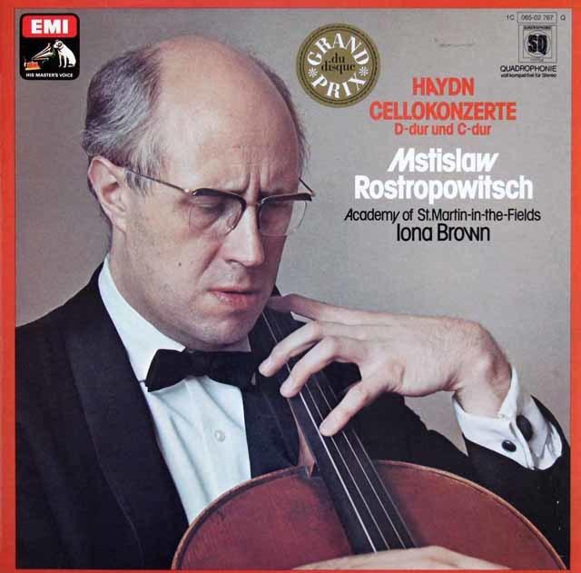 ロストロポーヴィチのハイドン/チェロ協奏曲第1&2番 独EMI 3203 LP レコード