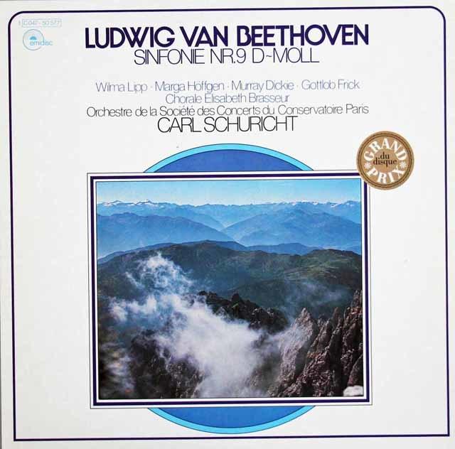 シューリヒトのベートーヴェン/交響曲第9番 独EMI 3203 LP レコード