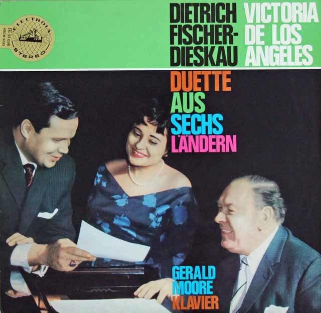 アンヘレス、ディースカウ&ムーアの二重唱集(パーセル、ベートーヴェン、バッハ、シューベルトほか) 独ELECTROLA 3203 LP レコード