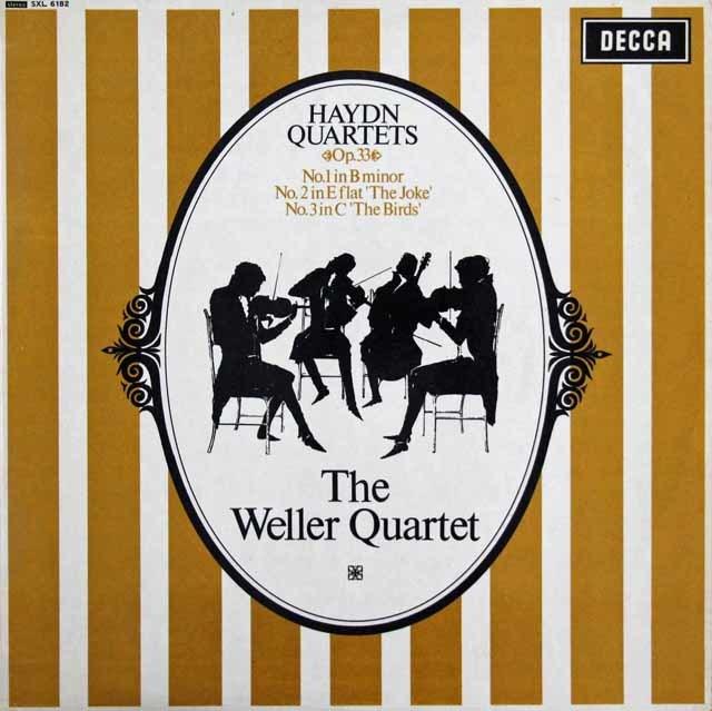 ウェラー四重奏団のハイドン/弦楽四重奏曲「冗談」「鳥」ほか 英DECCA 3203 LP レコード