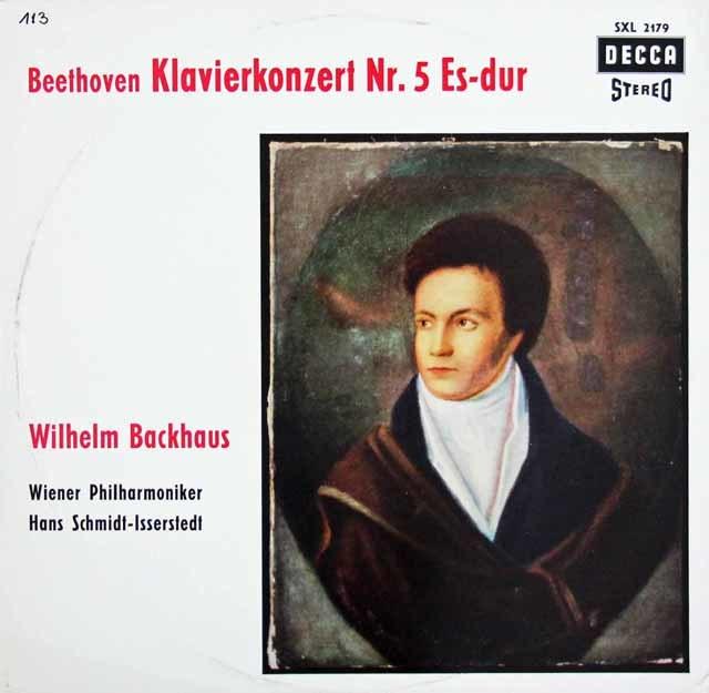 バックハウス&イッセルシュテットのベートーヴェン/ピアノ協奏曲第5番「皇帝」 独DECCA 3203 LP レコード