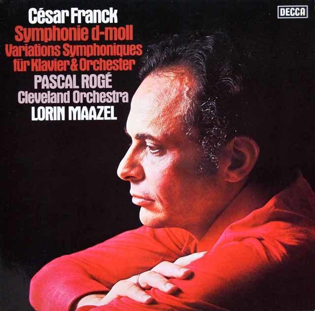 マゼールのフランク/交響曲ニ短調ほか 独DECCA 3203 LP レコード