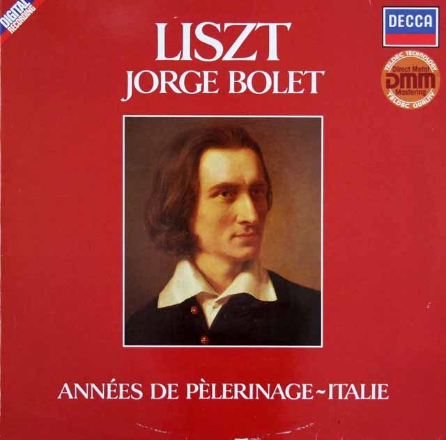 ボレットのリスト/巡礼の旅 第2年 イタリア 独DECCA 3203 LP レコード