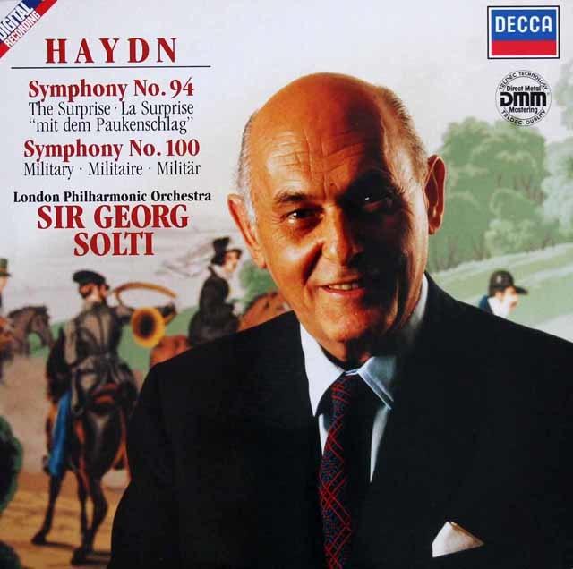 ショルティのハイドン/交響曲第94番「驚愕」&第100番「軍隊」 独DECCA 3203 LP レコード