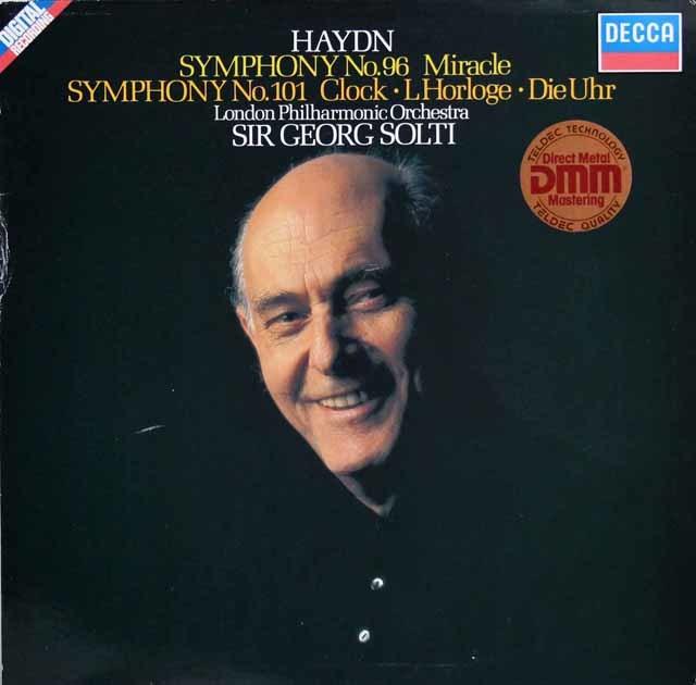 ショルティのハイドン/交響曲第96番「奇蹟」&第101番「時計」 独DECCA 3203 LP レコード