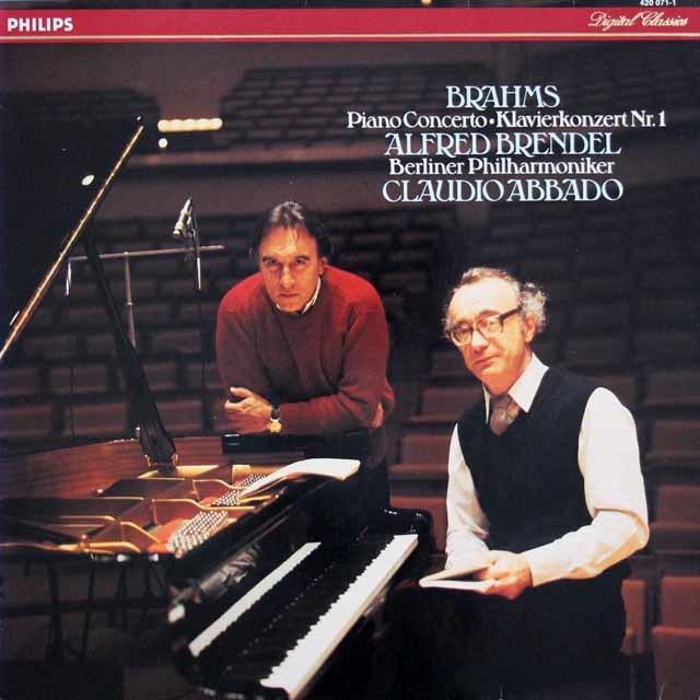 ブレンデル&アバドのブラームス/ピアノ協奏曲第1番 蘭PHILIPS 3203 LP レコード