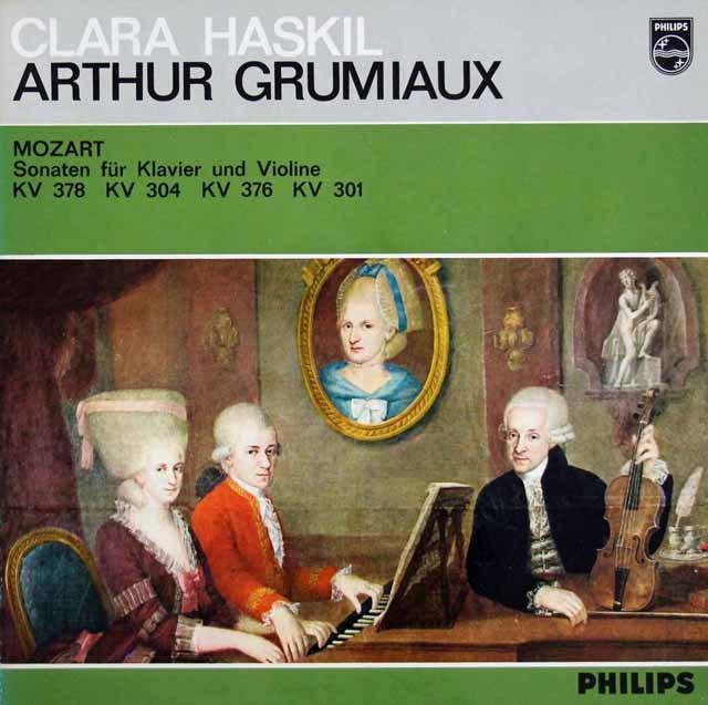 グリュミオー&ハスキルのモーツァルト/ヴァイオリンソナタ集 蘭PHILIPS 3203 LP レコード
