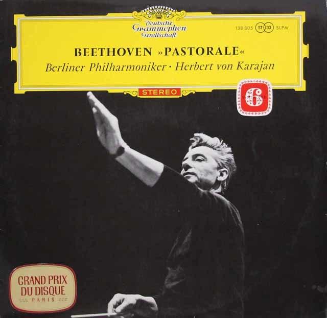 【赤ステレオ】カラヤンのベートーヴェン/交響曲第6番「田園」 独DGG 3203 LP レコード