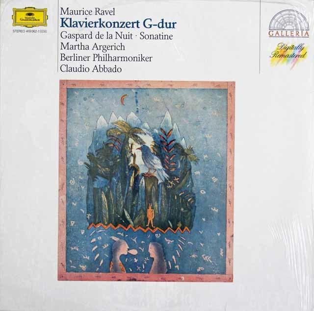 【未開封】アルゲリッチ&アバドのラヴェル/ピアノ協奏曲ほか 独DGG 3203 LP レコード