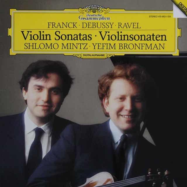ミンツ&プロンフマンのフランク、ドビュッシー、ラヴェル/ヴァイオリンソナタ 独DGG 3203 LP レコード