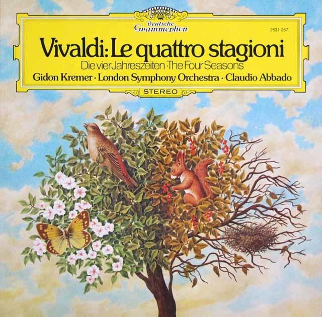クレーメル&アバドのヴィヴァルディ/ヴァイオリン協奏曲集「四季」 独DGG 3203 LP レコード
