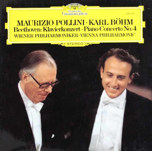 ポリーニ&ベームのベートーヴェン/ピアノ協奏曲第4番 独DGG 3203 LP レコード