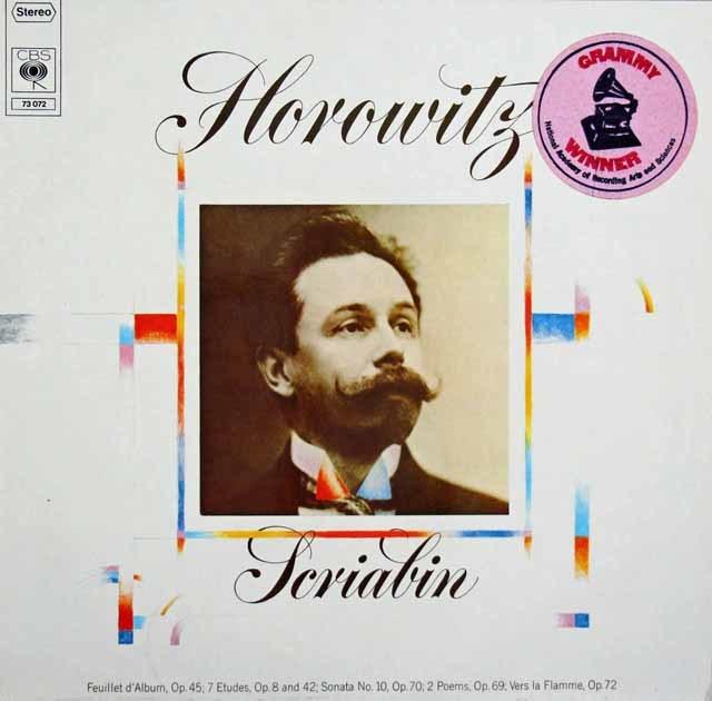 ホロヴィッツのスクリャービン/ピアノソナタ第10番ほか 独CBS 3203 LP レコード