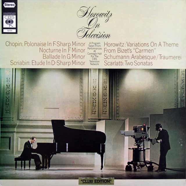 ホロヴィッツ・オン・テレヴィジョン 英CBS 3203 LP レコード