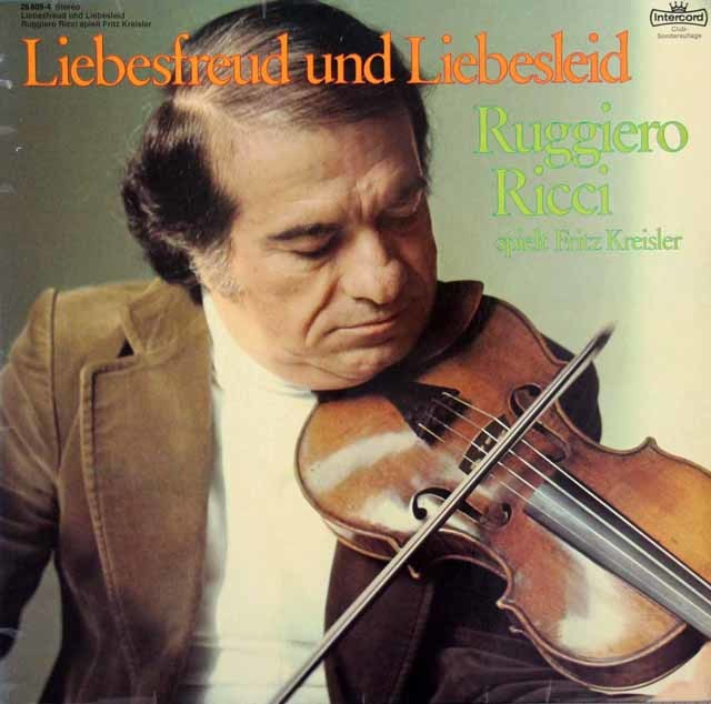 リッチ&コンタルスキーのクライスラー/ヴァイオリン作品集 独Intercord 3203 LP レコード