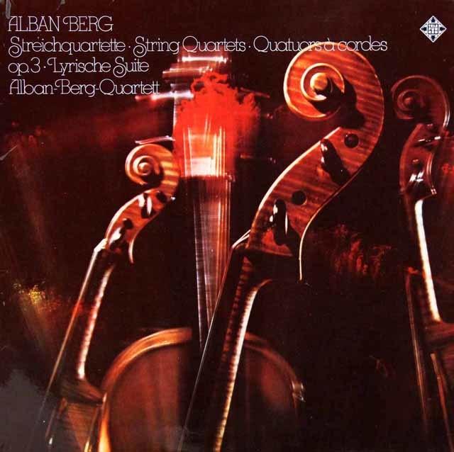 アルバン・ベルク四重奏団のベルク/弦楽四重奏曲ほか 独TELEFUNKEN 3203 LP レコード