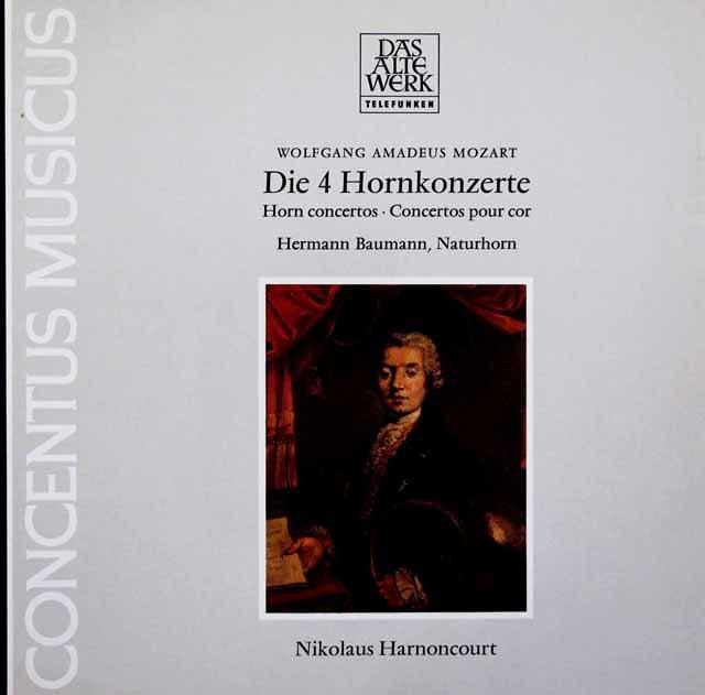 バウマン&アーノンクールのモーツァルト/ホルン協奏曲第1~4番 独TELEFUNKEN 3203 LP レコード