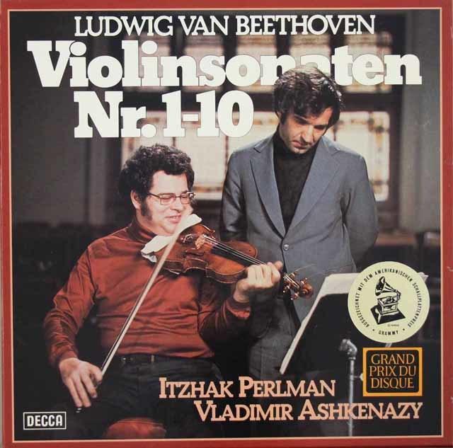 パールマン&アシュケナージのベートーヴェン/ヴァイオリンソナタ全集 独DECCA 3203 LP レコード
