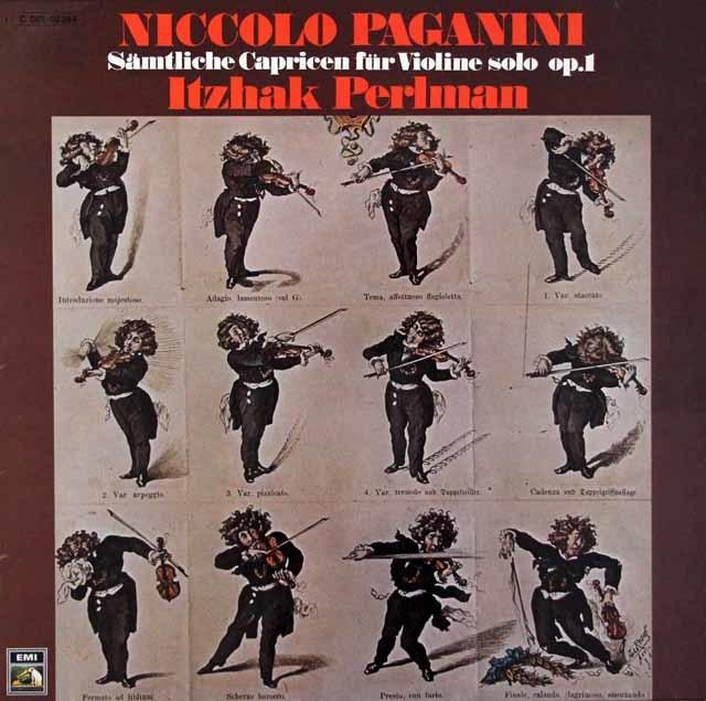 パールマンのパガニーニ/24の奇想曲  独EMI 3204 LP レコード