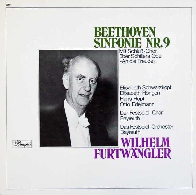 フルトヴェングラーのベートーヴェン/交響曲第9番 独Dacapo 3204 LP レコード