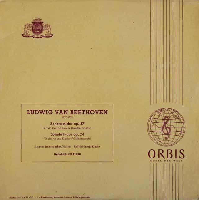 ラウテンバッハーのベートーヴェン/ヴァイオリン・ソナタ第9番、第5番  独Vox 3204 LP レコード